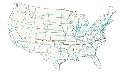 Amazon.com: Home Comforts Laminated Map - U S Route 64 Wikipedia ...