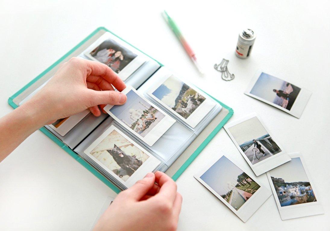 /Biglietti da visita organizer Instax Mini photo album Wine Indigo Prism Name Book/