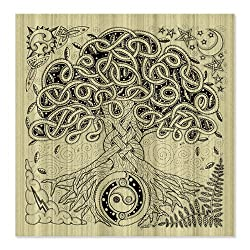 CafePress Celtic Tree of Life Ink Shower Curtain