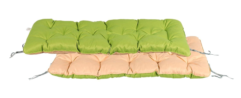 Meerweh Cuscino per panchina a 2 posti, verde/beige, 120x 50x 10cm MEERQ 20051