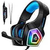 Amazon Price History for:Fuleadture Gaming Headset for PS4 Xbox One, PC Gaming Headset with Mic, Noise Cancelling Over Ear Headphones with LED Light, Bass Surround, Soft Memory Earmuffs for Laptop Mac Nintendo Switch Games