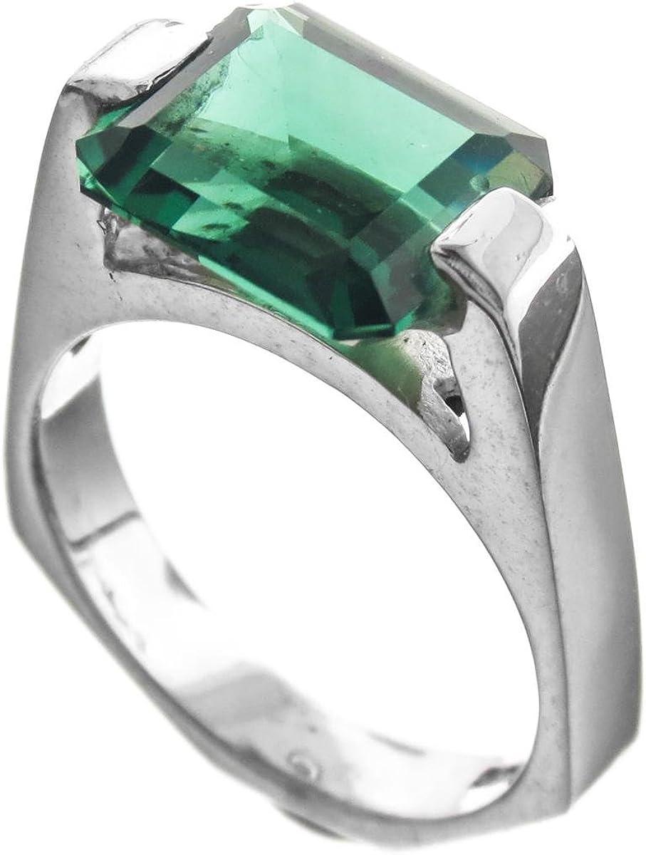 Green Quartz Crystal Ring Size 7
