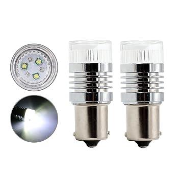Rcj 12 V SMD 1156 BA15S 382 CREE LED intermitente luces de conducción diurna cola parada luz de freno bombilla Whtie 2pcs: Amazon.es: Coche y moto