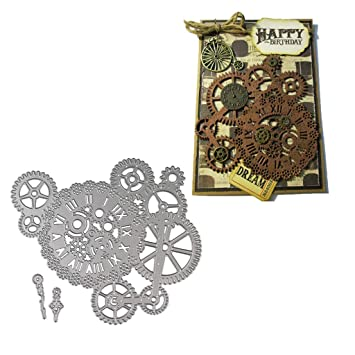 Cogs Cards Gears Scrapbooking Uk Seller Craft Die