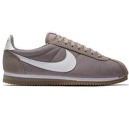 Zapatillas Nike - Classic Cortez Nylon Gris/Blanco/Caramelo Talla: 40,5: Amazon.es: Zapatos y complementos