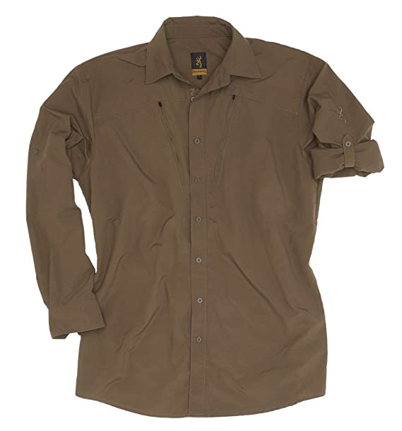 Camisa de caza Savannah Ripstop Browning oliva, color marrón, tamaño XL: Amazon.es: Ropa y accesorios