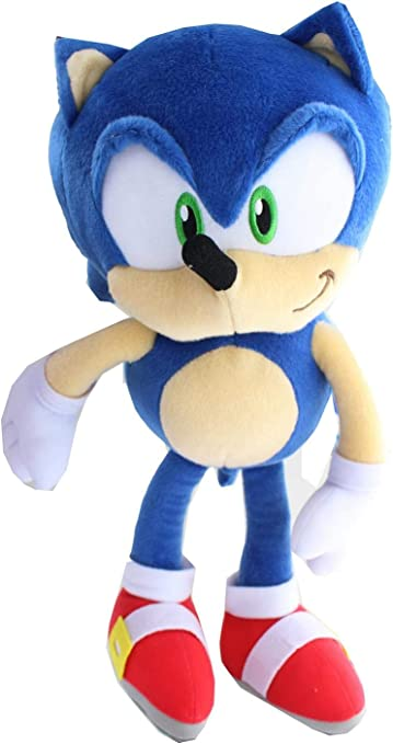 Amazon Com Sonic The Hedgehog 20th Anniversary 15 Inch Classic Sonic Plush Toys Games
