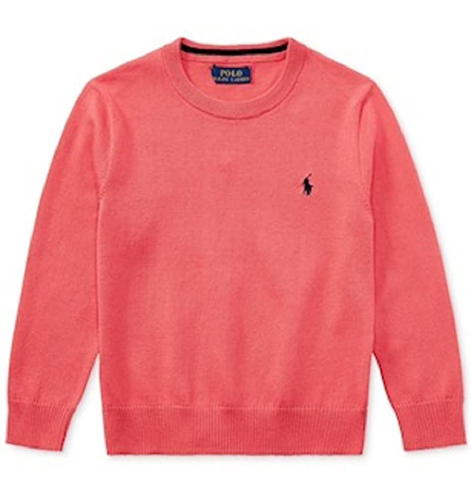 Size 5 Boys Cruise Red RALPH LAUREN V-Neck Cotton Sweater