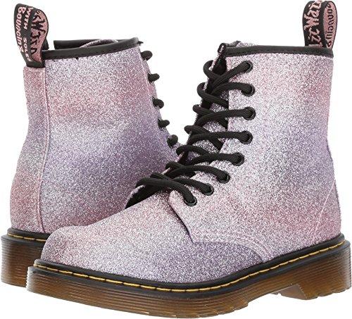 Dr. Martens Kid's Collection Girl's Delaney Glitter (Little Kid/Big Kid) Pink Glitter Boot for $<!--$54.99-->