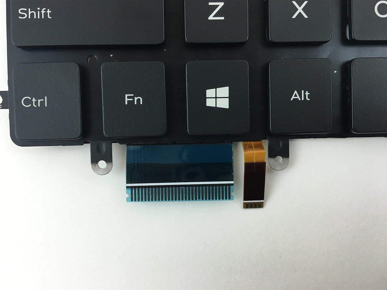 for Dell Inspiron 13 7347 13 7348 7352 7353 7359 15 7547 15 7548 XPS 13 9343 9350 0DKDXH DKDXH NSK-LS0BW 01 US Layout Black Color New Laptop Backlit Keyboard Without Frame