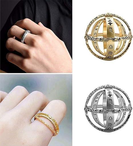 Kreatives Geburtsjahr Ring Edelstahl Ring öffnen Gold Silber Birthday Geschenk