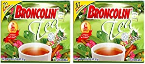Broncolin Tea (2-Pack) | Nutritional Herbal Tea Bags containing Honey and Plant Extracts; 50 Tea Bags