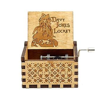 Caja de música de Madera, Cajas Musicales talladas a Mano Antiguas talladas: Regalo temático de Davy Jones de Piratas del Caribe: Amazon.es: Hogar
