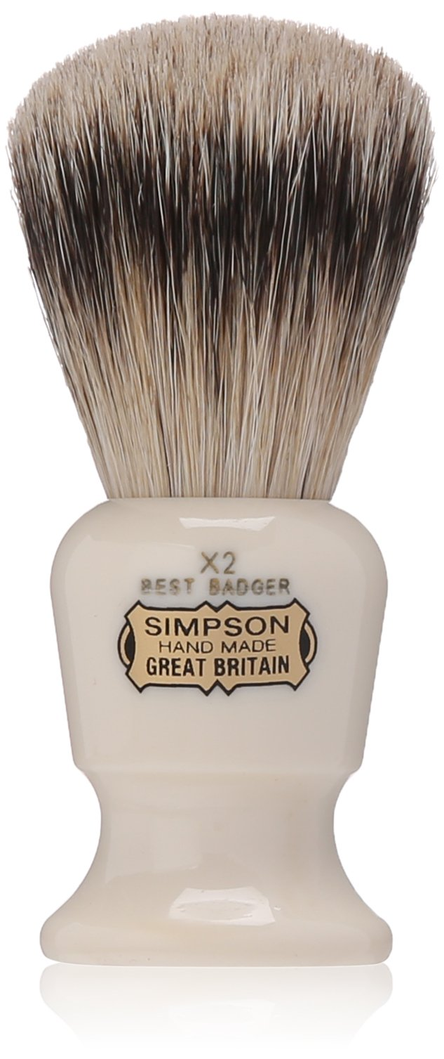 Commodore X2 Best Badger Shave Brush 95mm shave brush by Simpson by Simpson Shaving Brushes