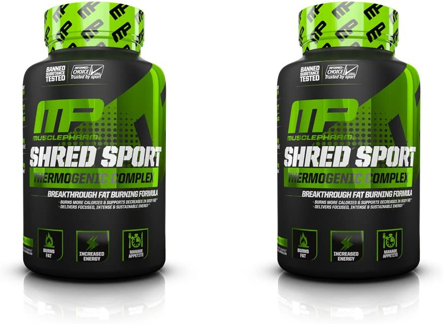 Muscle Pharm Shred Sport 60 Capsules 2 Pack