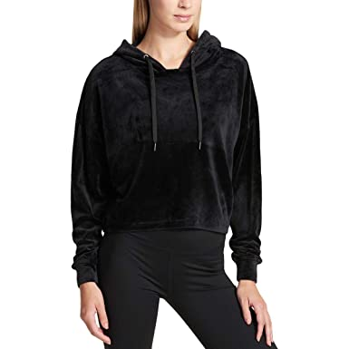 picked up many styles enjoy big discount DKNY Sport Women's Cropped Velour Hoodie