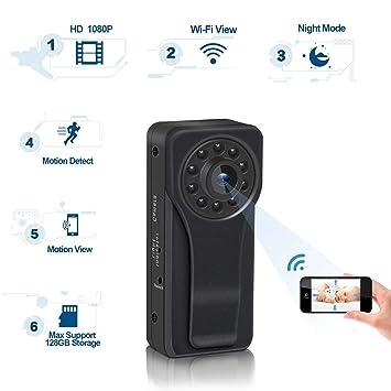 C-Xka Cámara espía ocultada 1080P HD mini, cámara del cuerpo de WiFi cámara de vigilancia ...