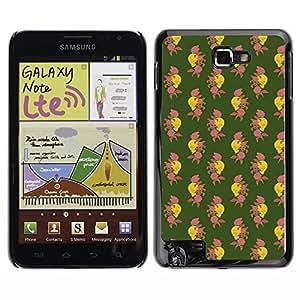 iKiki-Tech Estuche rígido para Samsung Galaxy Note i9220 N7000 - Skull And Rose