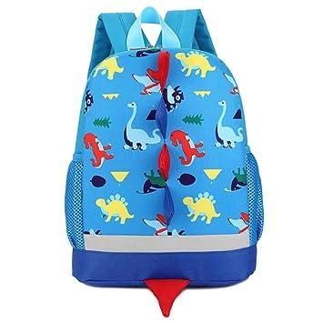 Bolso, Manadlian Niños Mochila de animales Patrón de dinosaurio Bolsa para la escuela (30cm*25cm, Azul): Amazon.es: Hogar