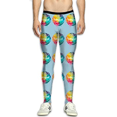 DOPYYDB Volleyball Paint Compression Pants Men Running Movement Gym Yoga Bodybuilding 3D Printing Leggings