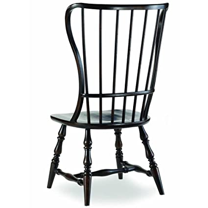 Hooker Furniture Sanctuary Spindle Dining Side Chair In Ebony