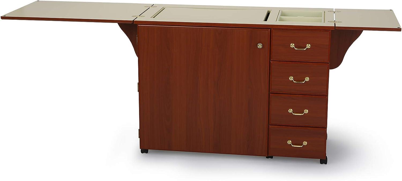 Arrow Norma Jean Sewing Machine Storage Cabinet Cherry