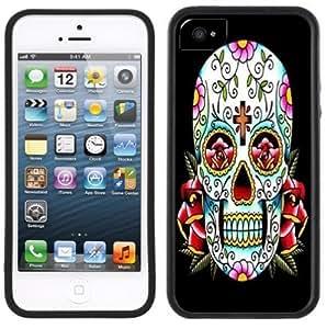 LJF phone case Day of the Dead Dia de los Muertos Handmade iphone 5/5s Black Case