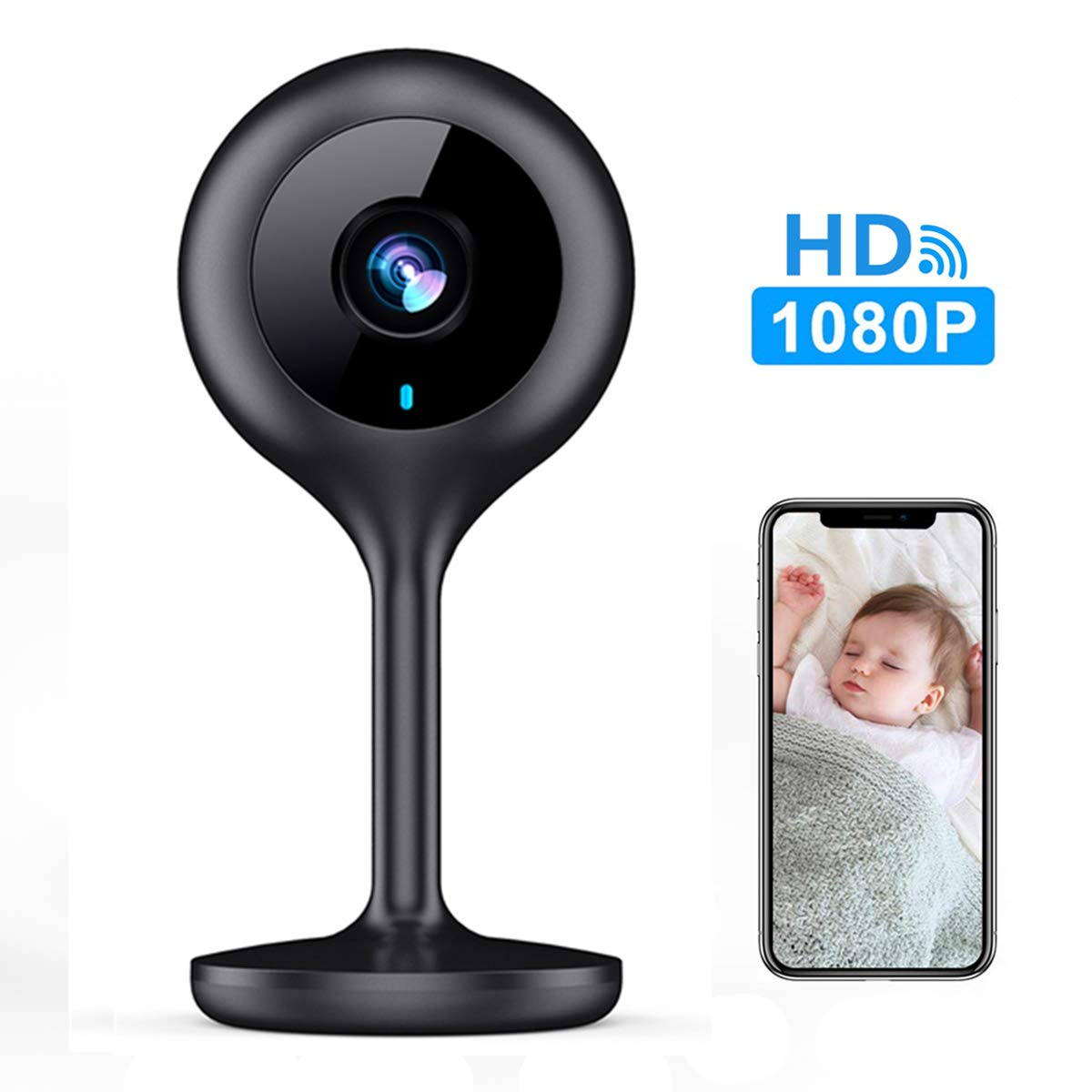 MECO WiFi IP Camera 1080P HD Home IP Security Nanny Camera with Night Vision, Sound & Motion Detection, Security Surveillance 2.4GHz Pet Baby Monitor - Cloud Service Available by MECO