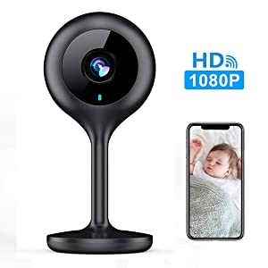 MECO WiFi IP Camera Wireless 1080P HD Home Wireless Security Nanny Camera with Night Vision, Sound & Motion Detection, Security Surveillance Pet Baby Monitor - Cloud Service Available