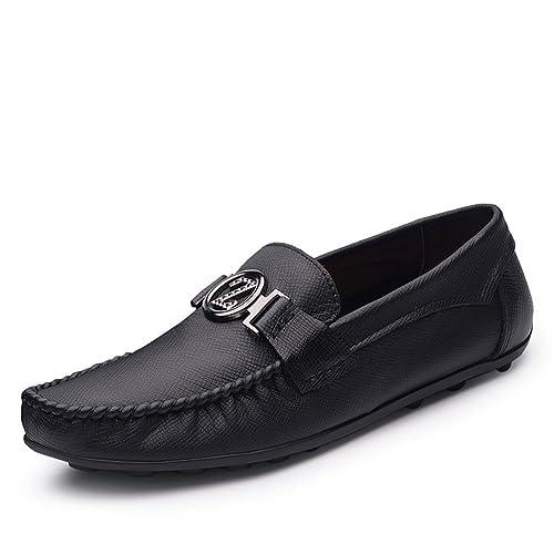 Hombre Mocasines Simple Planas Cuerozapatos Classic Artesanal Zapatos Decorado Hebilla: Amazon.es: Zapatos y complementos