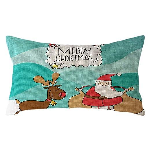 Gsgdae - Funda de Almohada de Navidad, decoración del hogar ...
