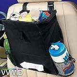 VViViD Black Nylon Automotive Backseat Trash Bag and Organizer