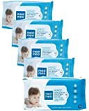 Mee Mee Caring Baby Wet Wipes with Aloe Vera (72 pcs x 5 Pack)