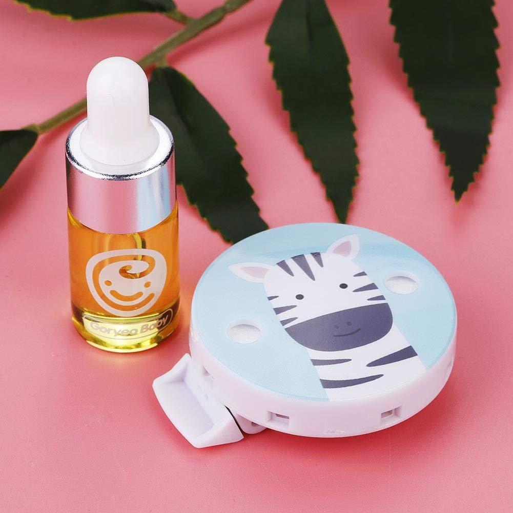Bottone riutilizzabile per repellente per zanzare Clip anti-zanzara per esterno Fibbia per zanzare per bambini per bambini Zebra ciano Mosquito Buckle