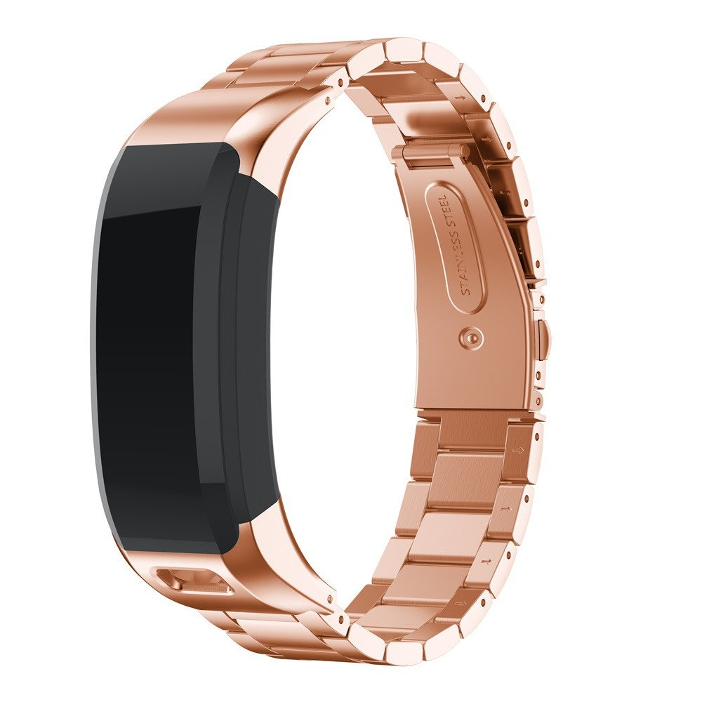 Metal Bands Compatible Garmin VIVOsmart HR Band Solid Stainless Steel Watch Band Replacement Wristbands Strap for Garmin VIVOsmart HR Smart Watch, TLT Retail (Rose Gold)