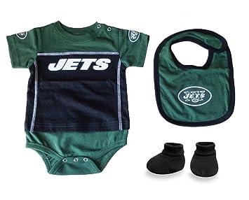 cefd2359 Amazon.com : New York Jets Baby Creeper, Booties & Bib Set (6-9 ...