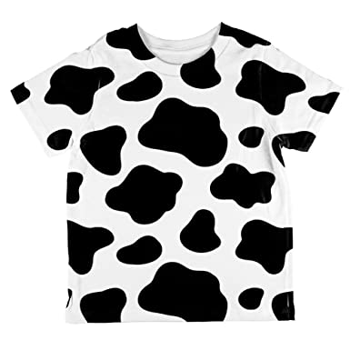 5acb9067 Amazon.com: Animal World Dairy Cow Pattern All Over Toddler T Shirt:  Clothing