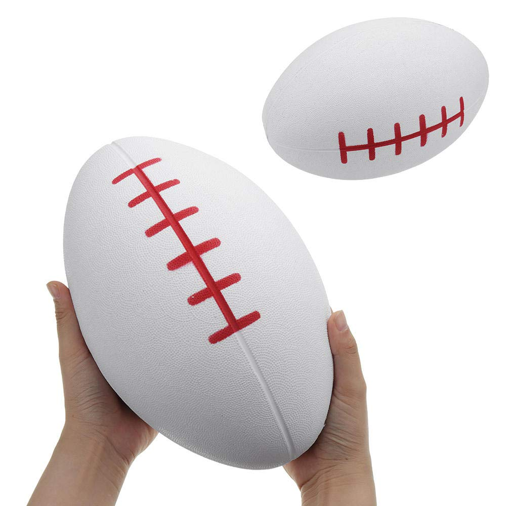 Huge Squishy Rugby Football 27.317.5cm Giant Kawaii Cute Soft Solw Rising Toy Cartoon Gift Collection by Unknown