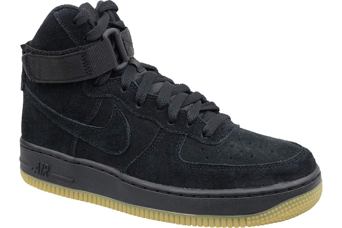Nike Air Force 1 High LV8 Black/Black-Gum Light Brown (GS) (6 M US Big Kid)