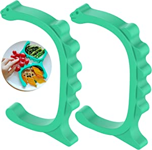 MEWETGT 2 PCS Silicone Food Plate Divider with Suction, Cartoon Food Separator, Portion Control and Easy Scooping Walls for Limited Mobility