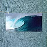 alsoeasy towel bar Tropical Surfing Wave on a Windy Sea Indonesia Sumatra Print Multipurpose Quick Drying L27.5 x W13.8 INCH