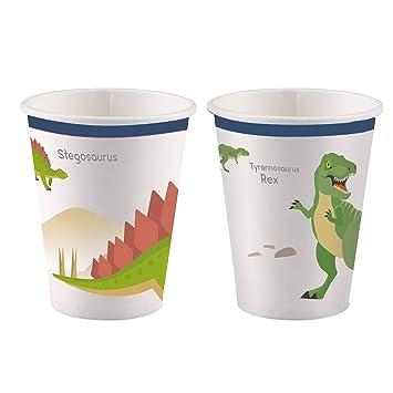 amscan - 8 Vasos * Dinosaurios Frescos * para Fiestas de ...