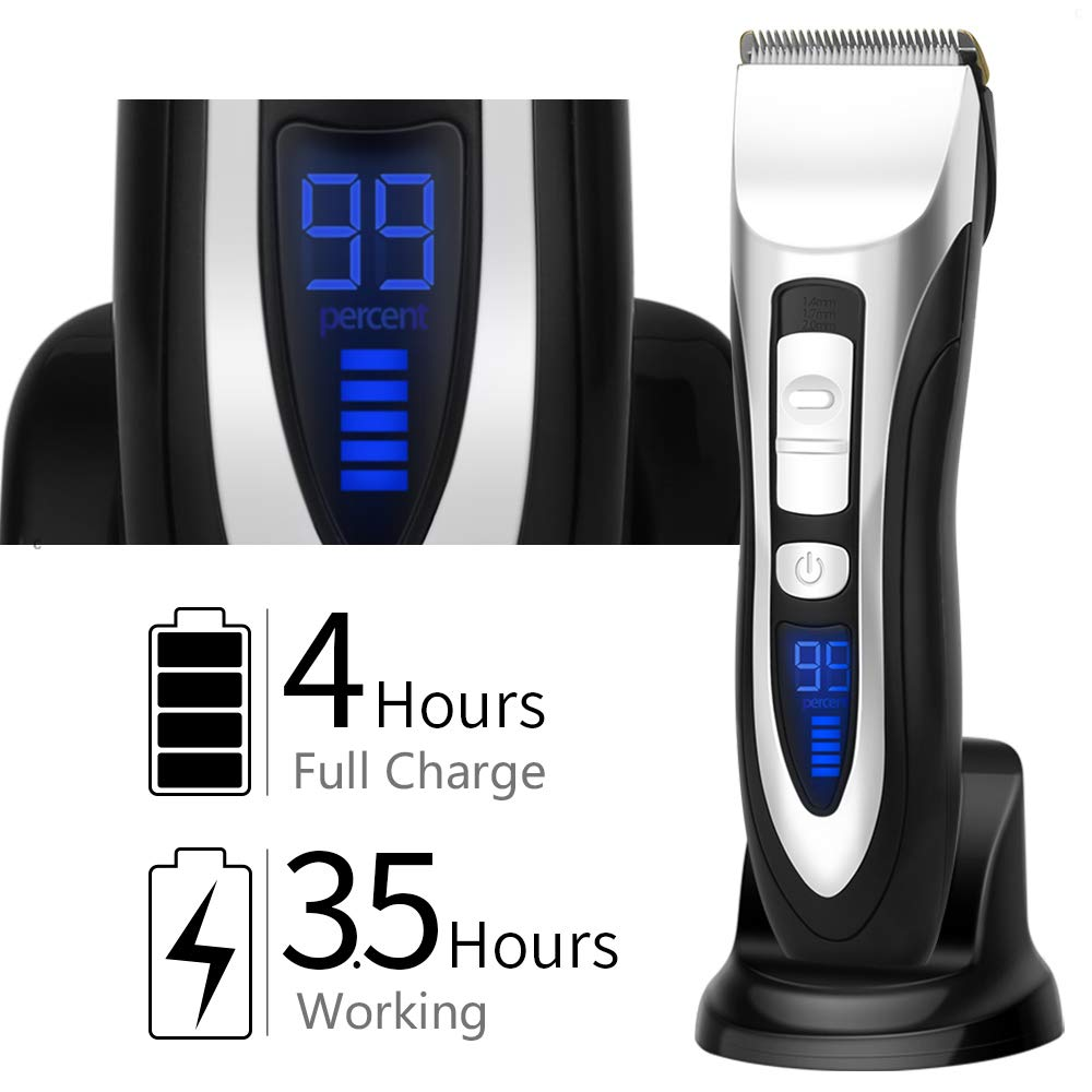 ELEHOT Hair Clippers for Men with 6 accessories Cordless Rechargeable Lithium-Ion
