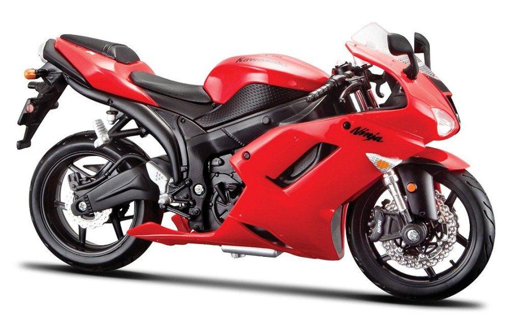 Kawasaki Ninja ZX-6R Red Motorcycle Model 1/12 by Maisto 31155
