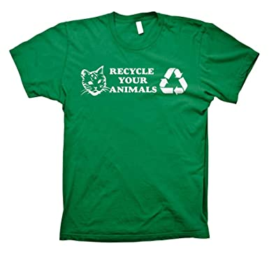 b4cd426f0b70 Amazon.com: Recycle Your Animals Project Mayhem T-shirt: Clothing