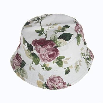 3885a34f9ab64f Amazon.com: Baby Bucket Hat,Vanvler Cute Floral Summer Hat Soft ...