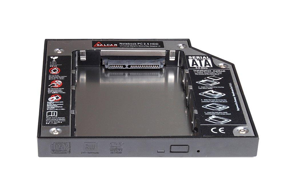 HDD Caddy Kit - Reemplaza unidad óptica IDE 12,7mm - Para Laptop Acer Siemens HP Toshiba: Amazon.es: Informática