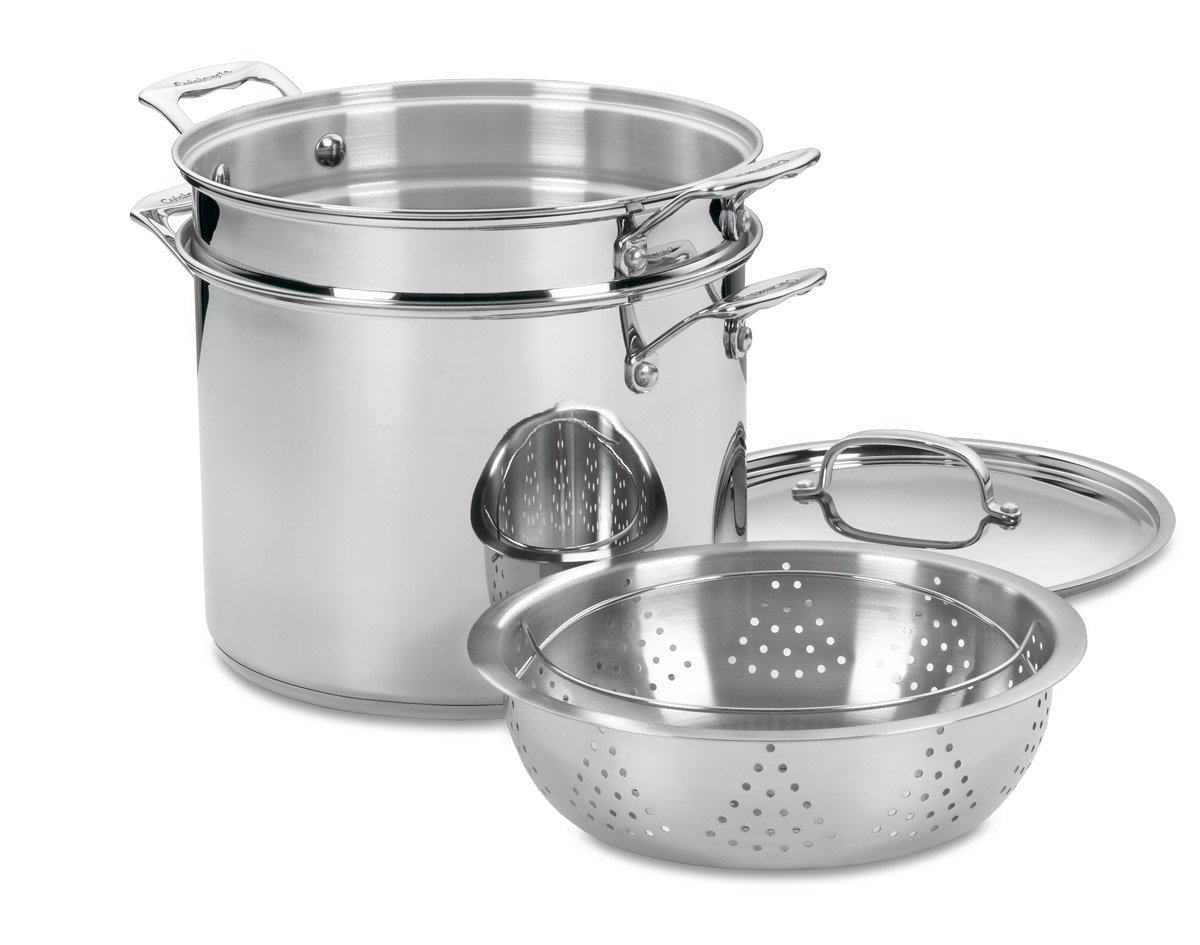 Cuisinart 77-412 Chef's Classic Stainless 4-Piece 12-Quart Pasta/Steamer Set by Cuisinart