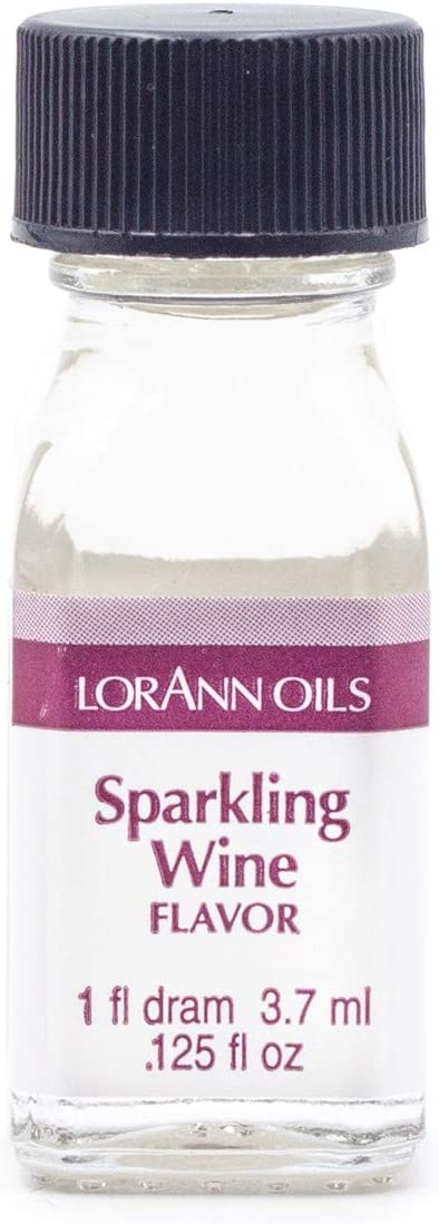 LorAnn Sparkling Wine Super Strength Flavor, 1 dram bottle (.0125 fl oz - 3.7ml)