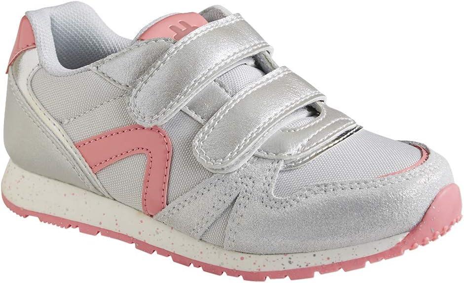 VERTBAUDET Zapatillas Estilo Running con Tiras autoadherentes para niña Gris Claro Metalizado 32: Amazon.es: Deportes y aire libre